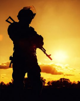 The lone soldier: Behind enemy lines